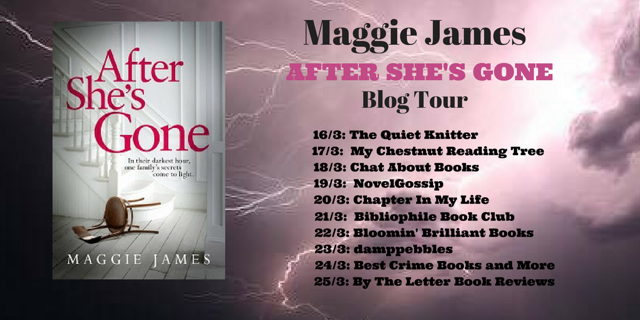 After She's Gone blog tour poster