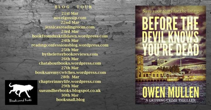 Before The Devil Knows You're Dead blog tour banner