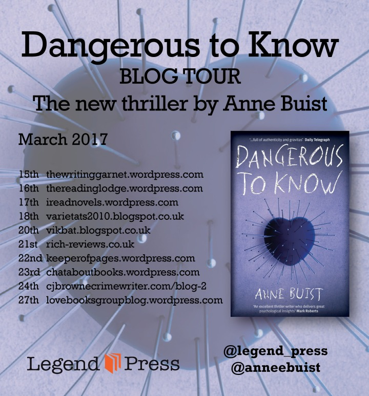 Dangerous to Know Blog Tour Banner