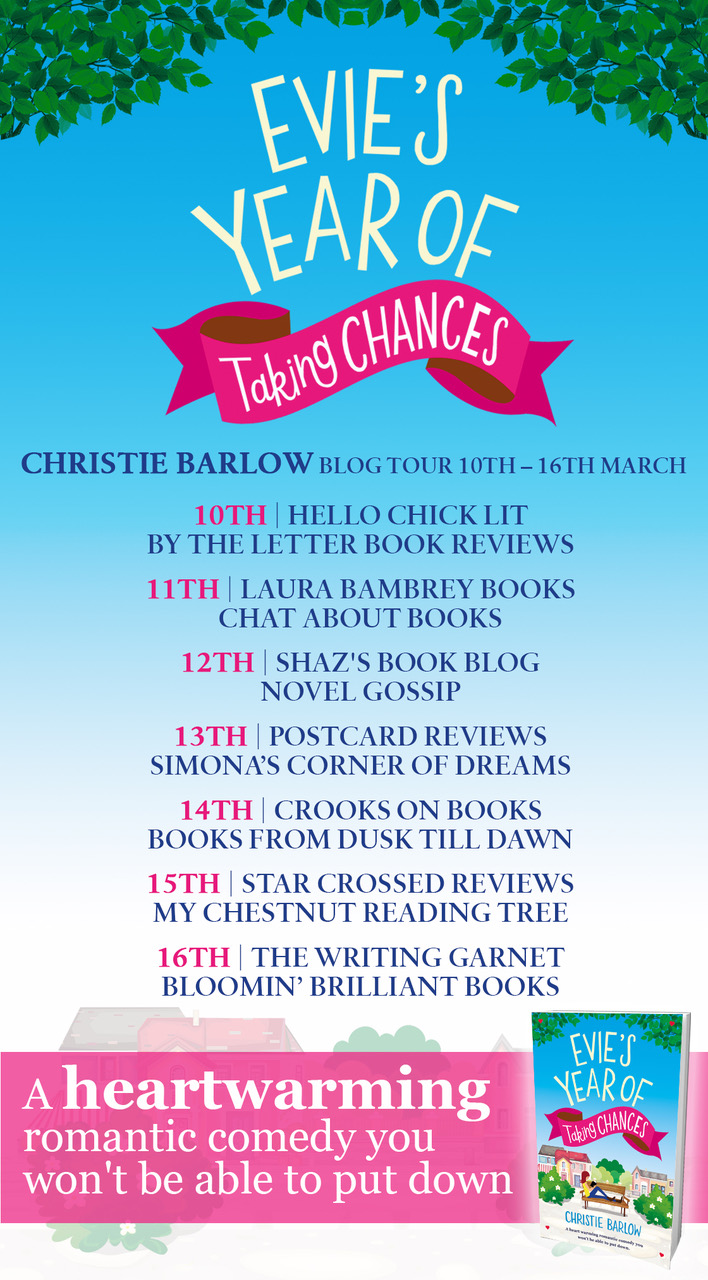 Evie's Year of Taking Chance blog tour poster