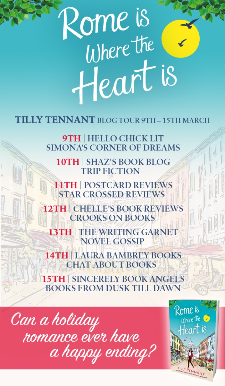 Rome Is Where The Heart Is blog tour poster