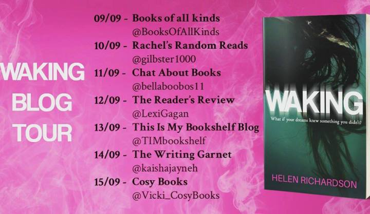 Waking blog tour banner