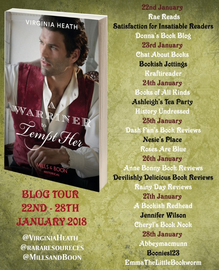 A Warriner To Tempt Her blog tour