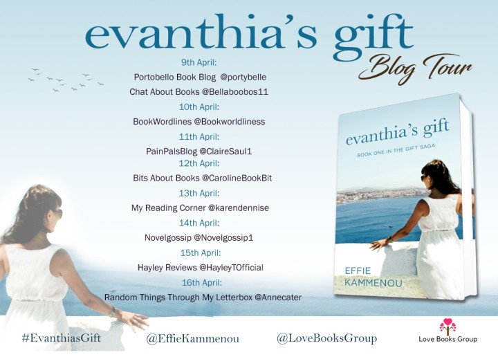 Evanthia's Gift blog tour