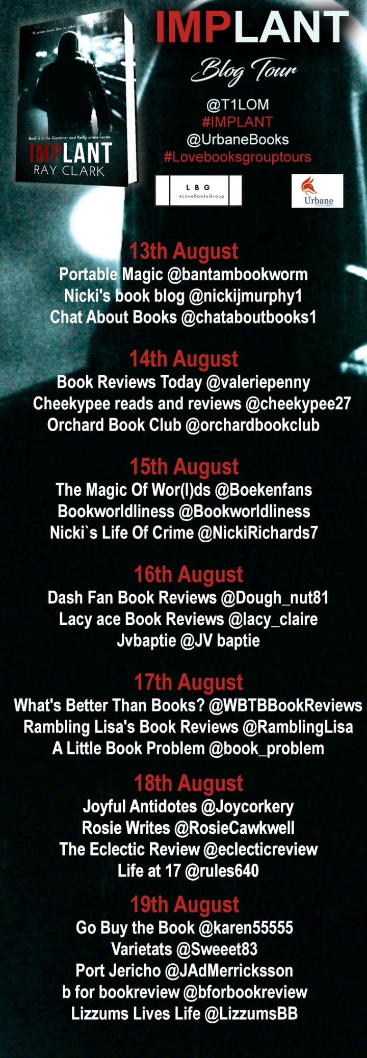 Implant blog tour poster