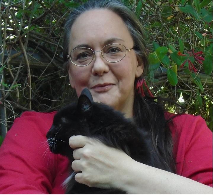 KE Young & cat Slick