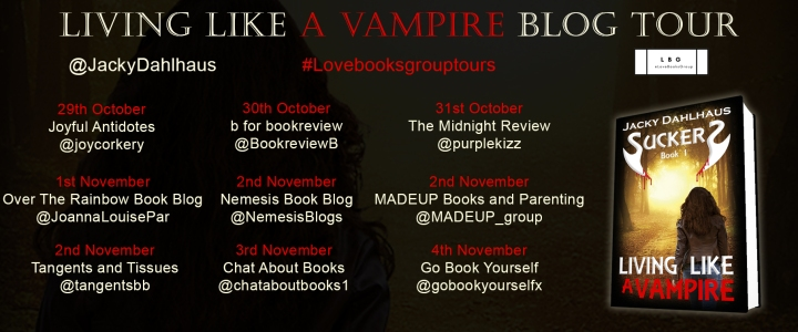 Suckered blog tour Living like a Vampire