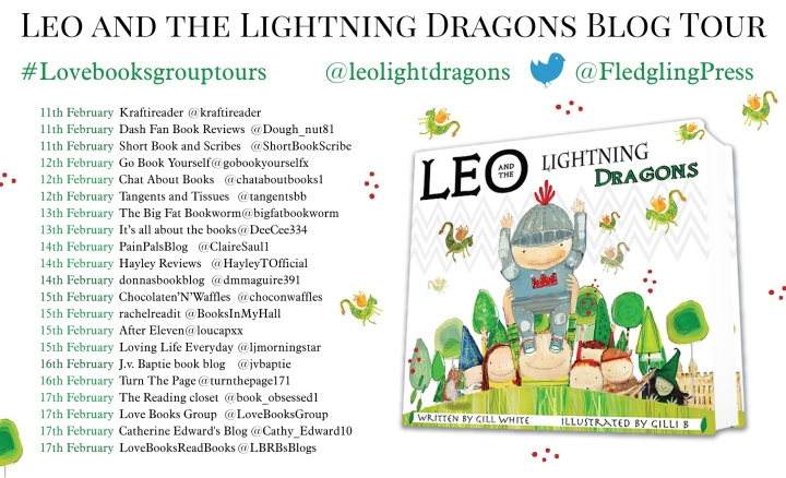 Leo and the Lightning Dragons blog tour