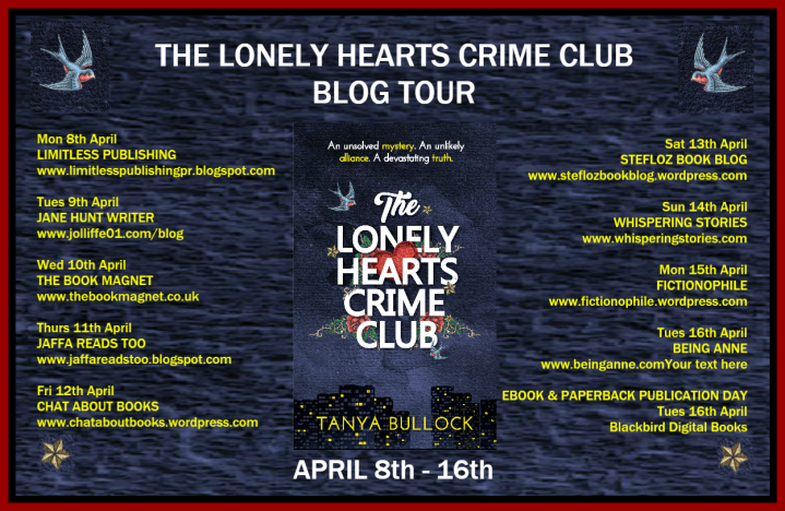 THE LONELY HEARTS CRIME CLUB BLOG TOUR POSTER