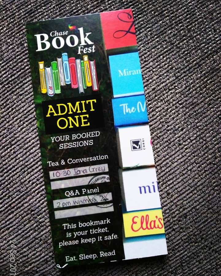 Chase Book Fest ticket