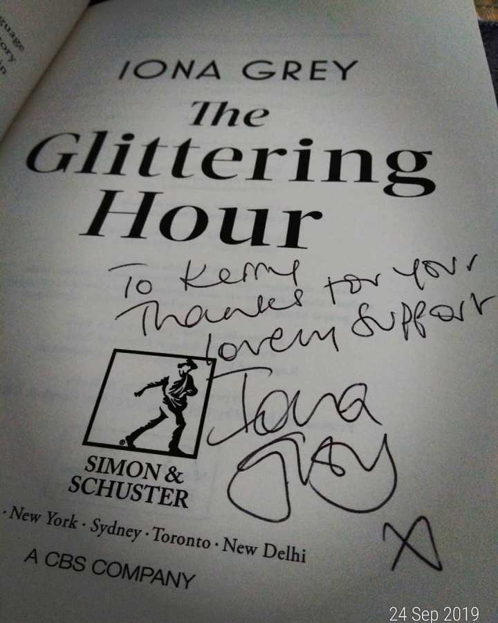 Iona Grey The Glittering Hour signed