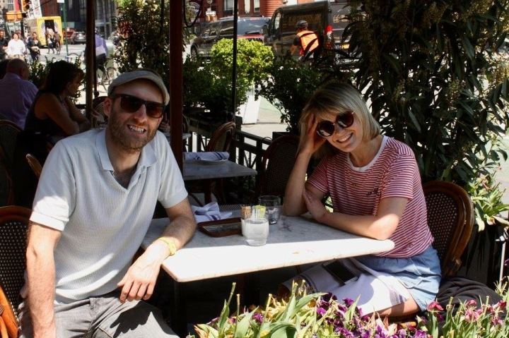 Paul Tudor Owen with his wife Eleanor in the East Village, 2018