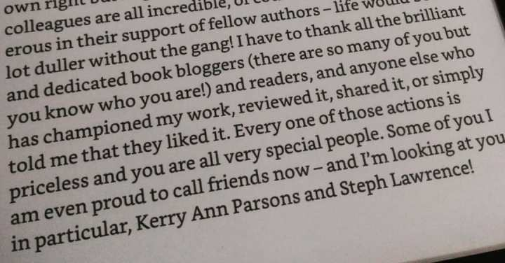 The Garden on Sparrow Street acknowledgements